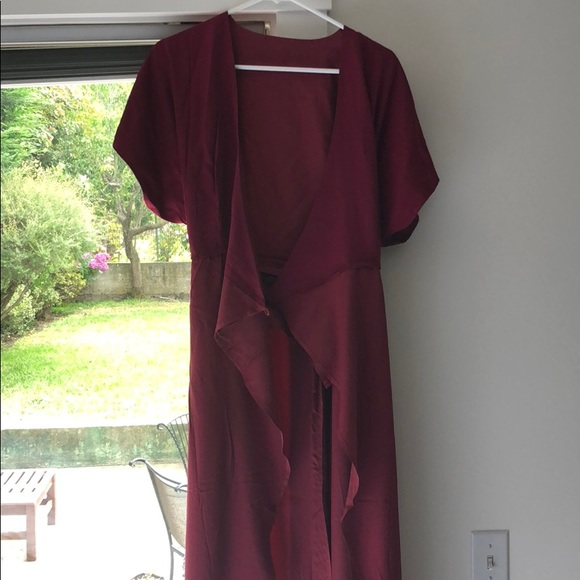 91aa970a199c Isabella wrap dress in burgundy! (Never worn!